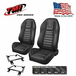 Tmi Pro Series Sport R Highback Bucket Seats For 1966 - 1977 Dodge Charger
