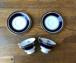 2 Royal Crown Derby Ashbourne China Tea Cup And Tea Cup Plate