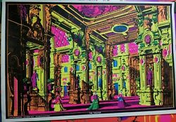The Theater 1970 Vintage Blacklight Nos Poster By Dick Dagres Dist. -nice