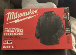 Milwaukee M12 Cordless Heated Hoodie Mens Size Large New In Box