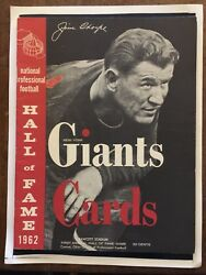 "1962 INAUGURAL HALL OF FAME GAME""JIM THORPE""COVER-Cards-Giants NFL Program-MINT!"