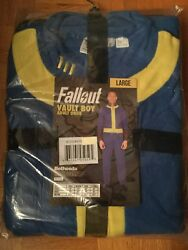 Fallout Vault Boy Adult Onsie Pajamas Costume Official Bethesda Vault 111 Large