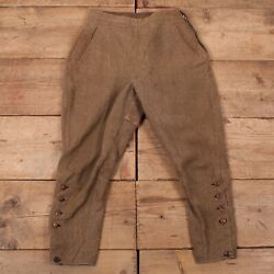 Mens Vintage French 1930s Hunting Football Trousers Pants 28 X 26 R17214