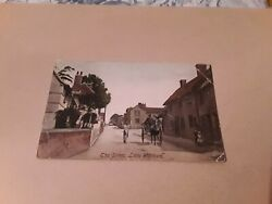 Rare Vintage Postcard The Street Little Waltham Chelmsford Essex Horse And Cart