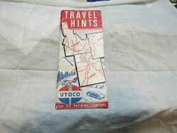 1949 Utoco Oil Travel Hints Picture Booklet Scenic Historic West 64 Pages