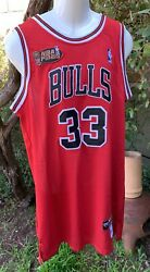 Scottie Pippen 33 Nike Chicago Bulls Bball Red Jersey M48 Nba Finals Patch Nwt