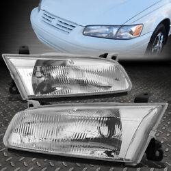FOR 97 99 TOYOTA CAMRY CHROME HOUSING CRYSTAL LENS HEADLIGHT ASSEMBLY HEAD LAMPS $50.33