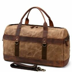 Travel Handbags Oil Wax Canvas Leather Large Waterproof Duffle Men Luggages