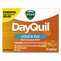 Vicks Dayquil Cold And Flu Liquicaps 24/box 24 Box/carton 01443