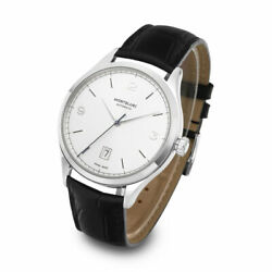 Genuine Watch Men Heritage Chronometrie Automatic Steel And Leather 40mm