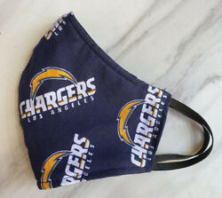 Los Angeles Chargers NFL Face Mask ADULT Handmade Cotton Washable