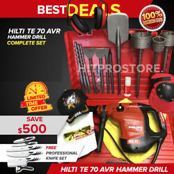 Hilti Te 70 Avr Hammer Drill, Preowned, Free Professional Knife Set, Quick Ship