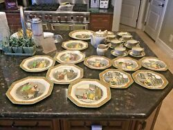 Antique And Rare - Cries Of London Green And Brown Rims By Adams China C. 1920-1