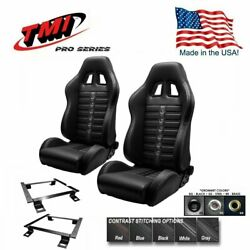 Tmi Pro Series Chicane Sport X Racing Seats And Brackets For 1999-2004 Mustang
