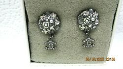 Earrings Pearls Crystals Hanging Cc Made In France