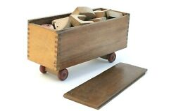 Vintage 1950 - 60s Nicol Toys Wooden Box/ Multi Bricks With Condition Issues
