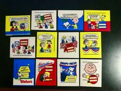 Vintage Peanuts Gang Snoopy For President Stickers Lot - Rare
