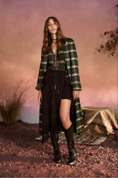 New Camilla Franks Silk Cotton Campfire Stories Jacket With Topstitched Detail .