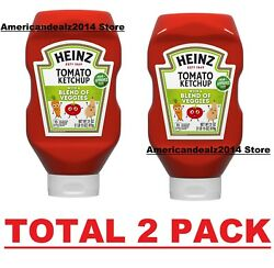 Heinz Tomato Ketchup With A Blend Of Veggies, 19.5 Oz Bottle, Total 2 Pack
