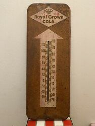 Vintage Royal Crown Cola Sigh Thermometer Pop Soda Oil Rc Oil Gas Station 1940s