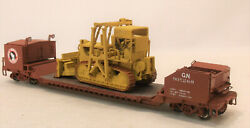 Ho Brass Omi Great Northern Bulldozerwreck Flat Car And D-8 Cat Custom Painted
