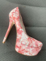 Alice And Olivia Floral Designer Platform Stilettos! EUC Beautiful Shoes Size 8 $46.99