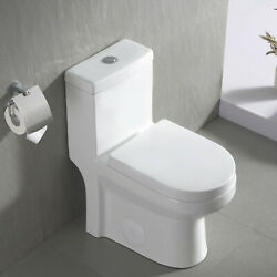 Deervalley Modern Toilet Small One Piece Toilet Compact Dual Flush With Seat