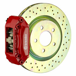 Brembo Bbk For 12-19 Fiat 500 Pop / Sport / Lounge | Front 4pot Red 1a4.3002a2
