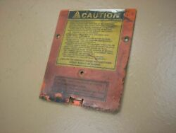 Case Ingersoll 444 Tractor Mower Dash Tower Cover Plate