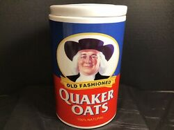 Vintage Quaker Oats Ceramic Cookie Jar Canister 120th Anniversary Limited Ed