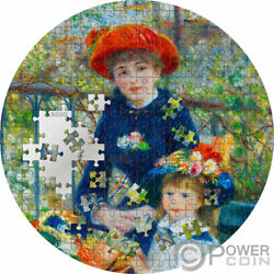 Two Sisters Renoir Micropuzzle Treasures 3 Oz Silver Coin 20 Palau 2020
