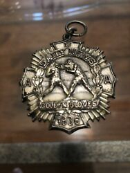 Authentic And Rare 1936 Golden Gloves Boxing Silver Medal 147lb Class Very Nice
