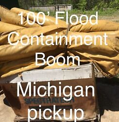 100' Oil Containment Spill Boom Flood Water Michigan Pickup Location