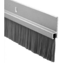 Pemko Door Bottom Sweep, Clear Anodized Aluminum With 1 Gray Nylon Brush Inser