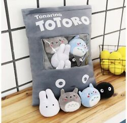 Totoro Plush Pillow Bag with 8 pieces of Fluffy Plush Dolls $31.99