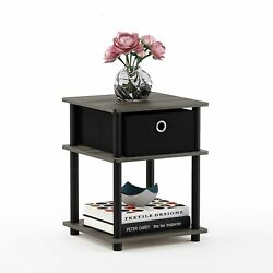 Small Chair Side End Table Side Accent Unique Bedside Stand With Drawer Storage