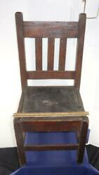Authentic Antique Mission Child's Oak Chair Furniture Arts And Craft