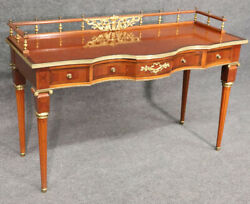 Superb Gilt Bronze Mounted French Louis Xvi Writing Table Desk C1940s