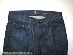 New Girls 7 for all Mankind Jeans 12 Boot Straight Dark Designer Lot 2 Pair NWT