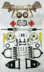 1937-1939 Chevy Mustang Ii Bolt On Manual Front End Suspension Kit Stock Wilwood