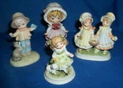 Lot of 4 Small Figurines of Children from Lefton China Handpainted
