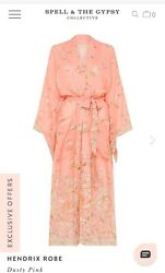 NWT SPELL & The Gypsy Collective Hendrix Design Robe ML Dusty Pink SOLD OUT