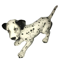 """Goebel Spotted Dalmation Dog West Germany Porcelain Figurine 9""""x 12"""" Preowned C8"""