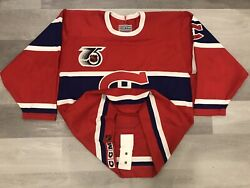 91-92 Authentic Ccm Turn Back The Clock Tbtc Montreal Canadiens Hockey Jersey 48