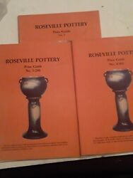 3 A Price Guide To Roseville Pottery By Sharon And Bob Huxford Fast Shipping