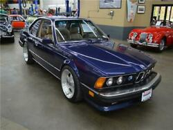 1987 BMW 6-Series M6 1987 BMW 6 Series M6 55819 Miles Royal Blue metallic Coupe Straight 6 Cylinder E