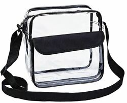 Clear Cross-Body Messenger Shoulder Bag NFL and PGA Stadium Approved Clear Purs $16.99