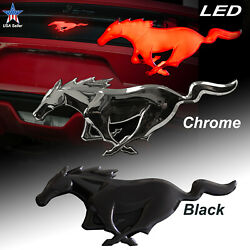 Ford Mustang Emblem Officially Licensed Led Lighted Sticker Accessories Black