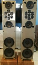 Tekton Double Impact Floor Standing Speakers (Pair) w grills    EXCELLENT COND