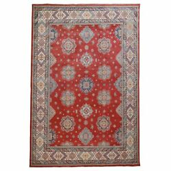 10'3x14' Red Special Kazak All Over Design Pure Wool Hand Knotted Rug G57014